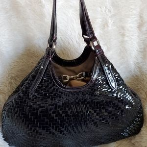 *EUC* Cole Haan Genevieve Pinot Noir Triangle Tote